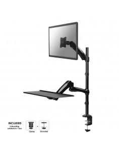 "Newstar FPMA-D500KEYB monitorin kiinnike ja jalusta 68.6 cm (27"") Puristin/Läpipultattu Musta Newstar FPMA-D500KEYB - 1"