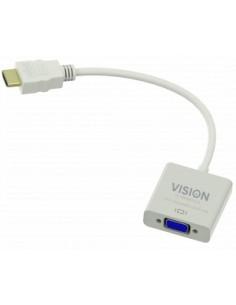 Vision TC-HDMIVGA cable gender changer HDMI VGA White Vision TC-HDMIVGA - 1