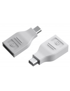 Vision TC-MDPDP cable gender changer MiniDisplayPort DisplayPort Valkoinen Vision TC-MDPDP - 1