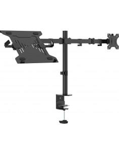 """Vision VFM-DPD2B+S Ställ för bärbara datorer 68.6 cm (27"""") Arm till bärbar dator och monitor Svart Vision VFM-DPD2B+S - 1"""