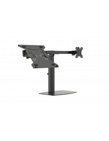 """Vision VFM-DSDG+S Kannettavan tietokoneen teline 41.9 cm (16.5"""") ja näytön varsiteline Musta Vision VFM-DSDG+S - 1"""