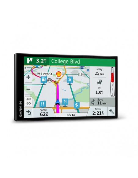 "Garmin DriveSmart 61 LMT-S navigator Fixed 17.6 cm (6.95"") TFT Touchscreen 243 g Black Garmin 010-01681-12 - 4"