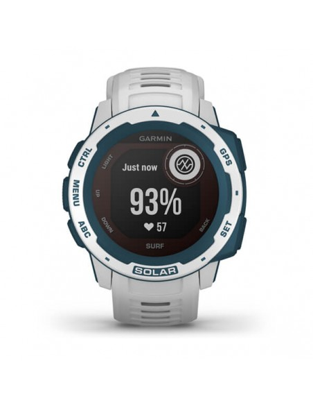 Garmin Instinct Solar – Surf Edition MIP Blue, White GPS (satellite) Garmin 010-02293-08 - 7