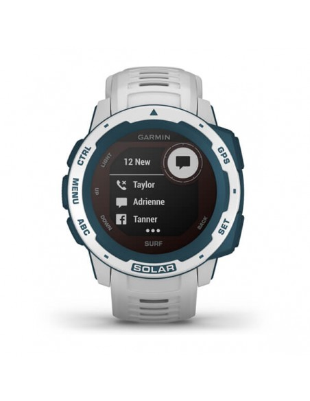 Garmin Instinct Solar – Surf Edition MIP Blue, White GPS (satellite) Garmin 010-02293-08 - 8