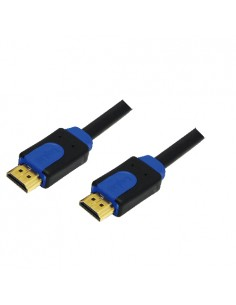 LogiLink CHB1110 HDMI-kaapeli 10 m HDMI-tyyppi A (vakio) Musta, Sininen Logitech CHB1110 - 1