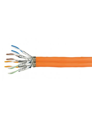 LogiLink 500m Cat.7A S/FTP verkkokaapeli Cat7a (S-STP) Oranssi Logitech CQ5500D - 1