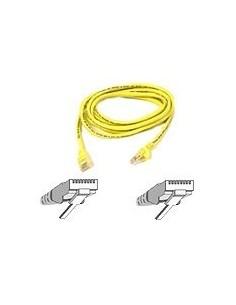 Belkin Patch cable - RJ-45(M) 1m ( CAT 5e ) yellow verkkokaapeli Keltainen Belkin A3L791B01M-YLW - 1
