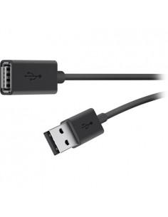 Belkin USB 2.0 A M/F 3m USB-kaapeli Musta Belkin F3U153BT3M - 1