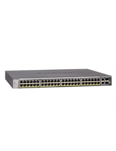 Netgear S3300-52X-PoE+ L2/L3 10G Ethernet (100/1000/10000) Power over (PoE) Black Netgear GS752TXP-100NES - 1
