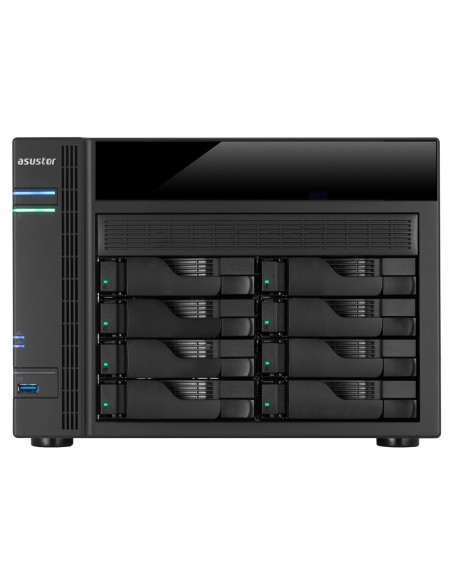 ASUS AS5008T NAS Nätverksansluten (Ethernet) Svart Asustek 90IX00D1-BW3S10 - 1