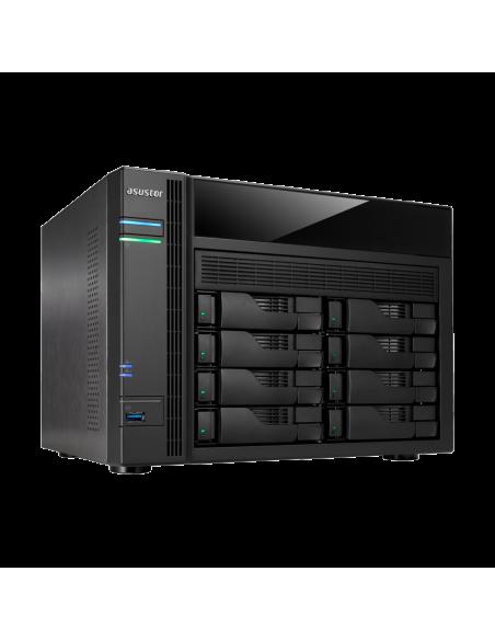 ASUS AS5008T NAS Nätverksansluten (Ethernet) Svart Asustek 90IX00D1-BW3S10 - 5