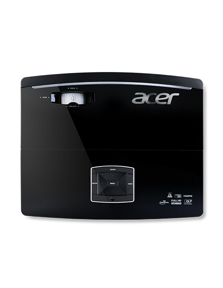 Acer Large Venue P6600 data projector Ceiling-mounted 5000 ANSI lumens DLP WUXGA (1920x1200) 3D Black Acer MR.JMH11.001 - 4