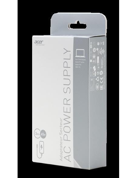Acer AC Adapter 65W virta-adapteri ja vaihtosuuntaaja Sisätila Musta Acer NP.ADT0A.036 - 3