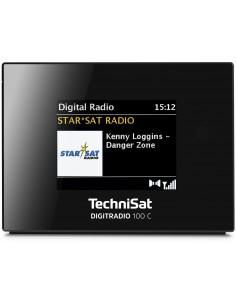 TechniSat Digitradio 100 C Klockradio Digital Svart Technisat 0000/3921 - 1