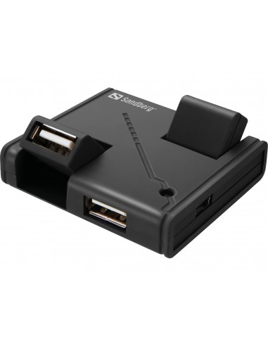 Sandberg USB Hub 4 Ports 2.0 480 Mbit/s Musta Sandberg 133-67 - 1