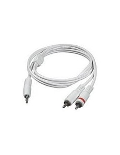 C2G 2m 3.5mm Male to 2 RCA-Type Audio Y-Cable - iPod audiokaapeli x RCA Valkoinen C2g 80126 - 1