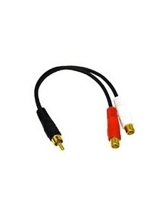 C2G Value Series RCA Plug to Jack x2 Y-Cable x 2 Musta C2g 80139 - 1