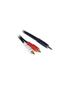 C2G 3m Velocity 3.5mm Stereo Male to Dual RCA Y-Cable audio cable 2 x Black C2g 80275 - 1
