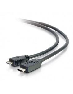 C2G USB 2.0, C - Micro B, 3m USB-kablar Micro-USB B Svart C2g 88852 - 1