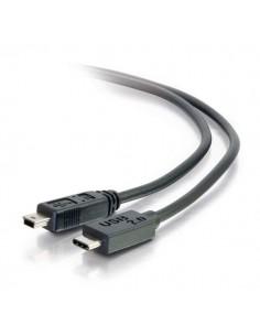 C2G USB 2.0, C - Mini B, 2m USB-kaapeli Mini-USB B Musta C2g 88855 - 1