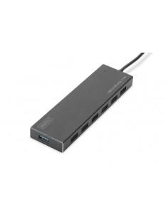 Digitus DA-70241-1 keskitin USB 3.2 Gen 1 (3.1 1) Type-A 5000 Mbit/s Harmaa Assmann DA-70241-1 - 1