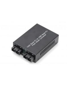 Digitus DN-82124 mediakonverterare för nätverk 1000 Mbit/s 1310 nm Flerläge, Enkelläge Svart Assmann DN-82124 - 1