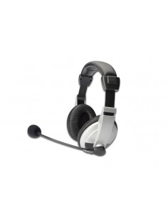 Ednet 83130 hörlur och headset Huvudband 3.5 mm kontakt Svart, Vit Ednet 83130 - 1