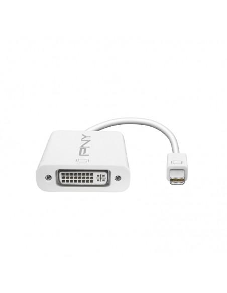 PNY Mini DisplayPort - DVI Vit Pny A-DM-DV-W01-RB - 1