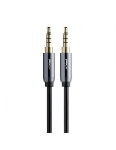 PNY C-AM-AM-C01-03 audiokaapeli 1 m 3.5mm Musta, Harmaa Pny C-AM-AM-C01-03 - 1