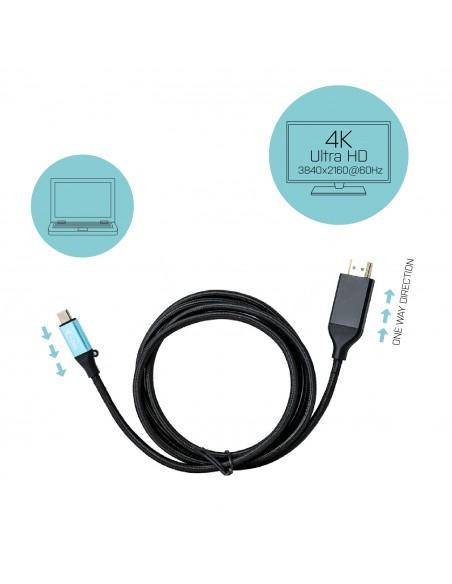 i-tec C31CBLHDMI60HZ2M videokaapeli-adapteri 2 m USB Type-C HDMI Musta I-tec Accessories C31CBLHDMI60HZ2M - 4