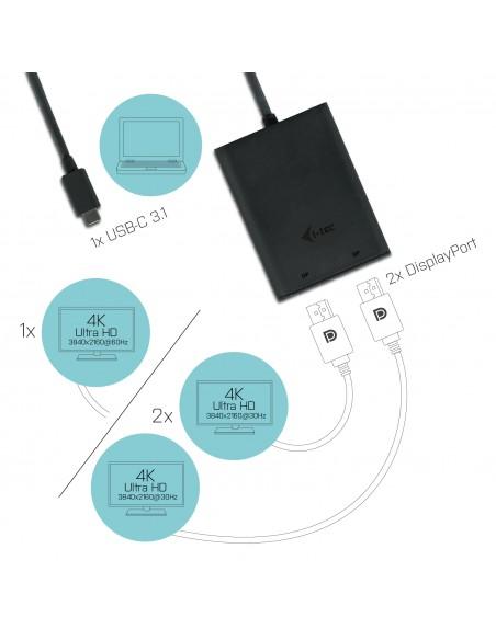 i-tec C31DUAL4KDP USB grafiikka-adapteri 3840 x 2160 pikseliä Musta I-tec Accessories C31DUAL4KDP - 4