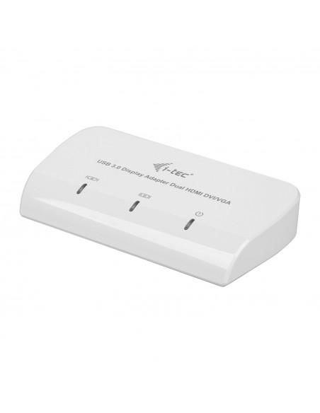 i-tec Advance U3DUALADA USB grafiikka-adapteri 2048 x 1152 pikseliä Valkoinen I-tec Accessories U3DUALADA - 2