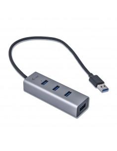 i-tec Metal U3HUBMETAL403 keskitin USB 3.2 Gen 1 (3.1 1) Type-A 5000 Mbit/s Harmaa I-tec Accessories U3HUBMETAL403 - 1