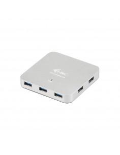 i-tec Metal U3HUBMETAL7 gränssnittshubbar USB 3.2 Gen 1 (3.1 1) Type-A 5000 Mbit/s Silver I-tec Accessories U3HUBMETAL7 - 1