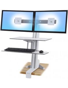 Ergotron WorkFit-S Valkoinen PC Multimediateline Ergotron 33-349-211 - 1