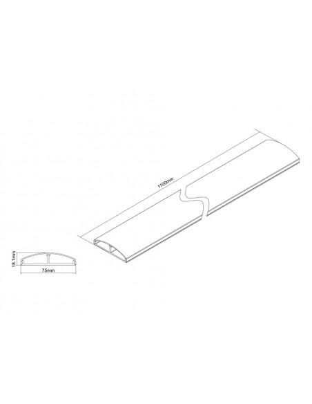 Multibrackets 3831 kaapelisuojain Kaapelin hallinta Metallinen Multibrackets 7350022733831 - 5