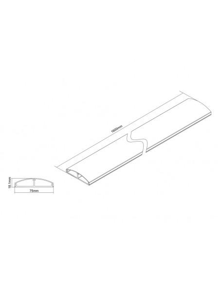 Multibrackets 3879 kaapelisuojain Kaapelin hallinta Metallinen Multibrackets 7350022733879 - 5