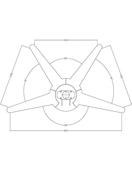 """Multibrackets 5392 kyltin näyttökiinnike 132.1 cm (52"""") Hopea Multibrackets 7350022735392 - 10"""