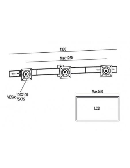 Multibrackets 6351 tillbehör till bildskärmsfäste Multibrackets 7350022736351 - 6