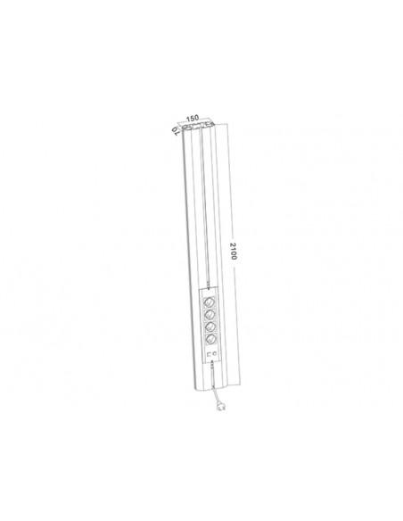 Multibrackets M Public Display Stand Pillar 210 Black, incl. 220V Power Rail Multibrackets 7350022736368 - 3