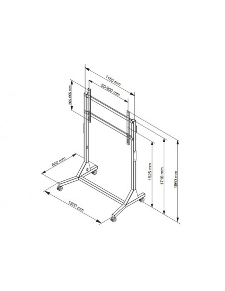 """Multibrackets 2838 kyltin näyttökiinnike 2.79 m (110"""") Valkoinen Multibrackets 7350073732838 - 7"""