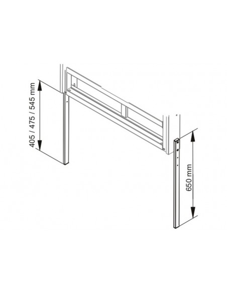 Multibrackets M Leg Extensions Motorized Mount 400-500 Black HD Multibrackets 7350073732968 - 3