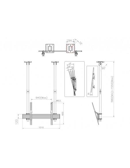 Multibrackets M Ceiling Mount Pro MBC1USD Multibrackets 7350073735785 - 9