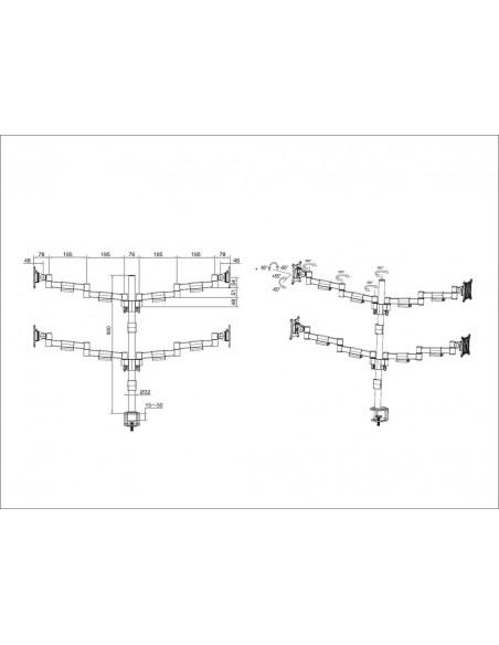 """Multibrackets 5891 monitorin kiinnike ja jalusta 76.2 cm (30"""") Puristin/Läpipultattu Musta Multibrackets 7350073735891 - 6"""