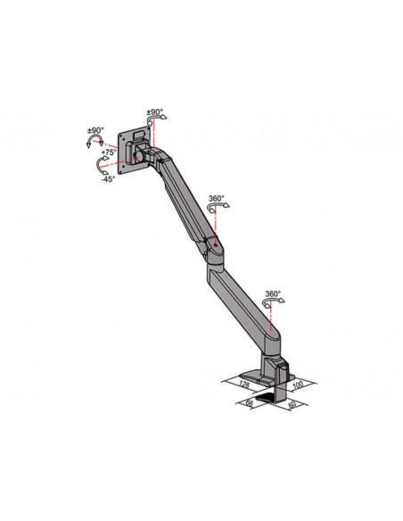 Multibrackets M VESA Gas Lift Arm Single Silver w. Duo Crossbar Multibrackets 7350073735938 - 13