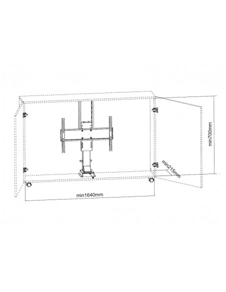 "Multibrackets 5969 tv-fäste 165.1 cm (65"") Svart Multibrackets 7350073735969 - 11"