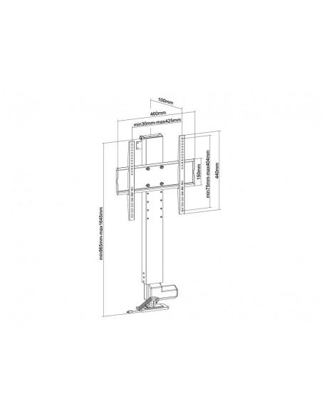 """Multibrackets 5976 TV-kiinnike 124.5 cm (49"""") Musta Multibrackets 7350073735976 - 8"""