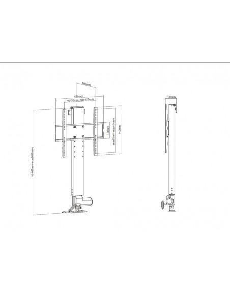 """Multibrackets 5976 TV-kiinnike 124.5 cm (49"""") Musta Multibrackets 7350073735976 - 9"""