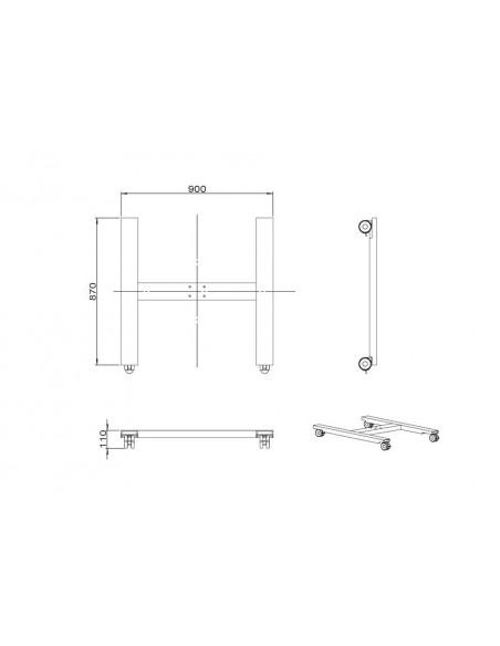 Multibrackets 6010 tillbehör till bildskärmsfäste Multibrackets 7350073736010 - 7