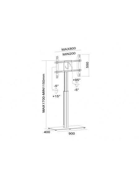 """Multibrackets 6058 kyltin näyttökiinnike 152.4 cm (60"""") Musta Multibrackets 7350073736058 - 22"""